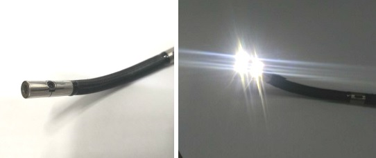 videoscope with dual lens,fibre lighting.